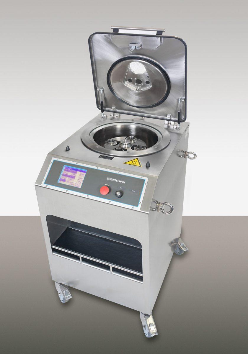 Laborzentrifuge CENTRIFLEX - Die Steuerung der Zentrifuge erfolgt über eine übersichtliche Touch-Screen-Bedienungseinheit mit Digitalanzeige der Drehzahl, der Schleuderzeit und des Betriebsstatus.