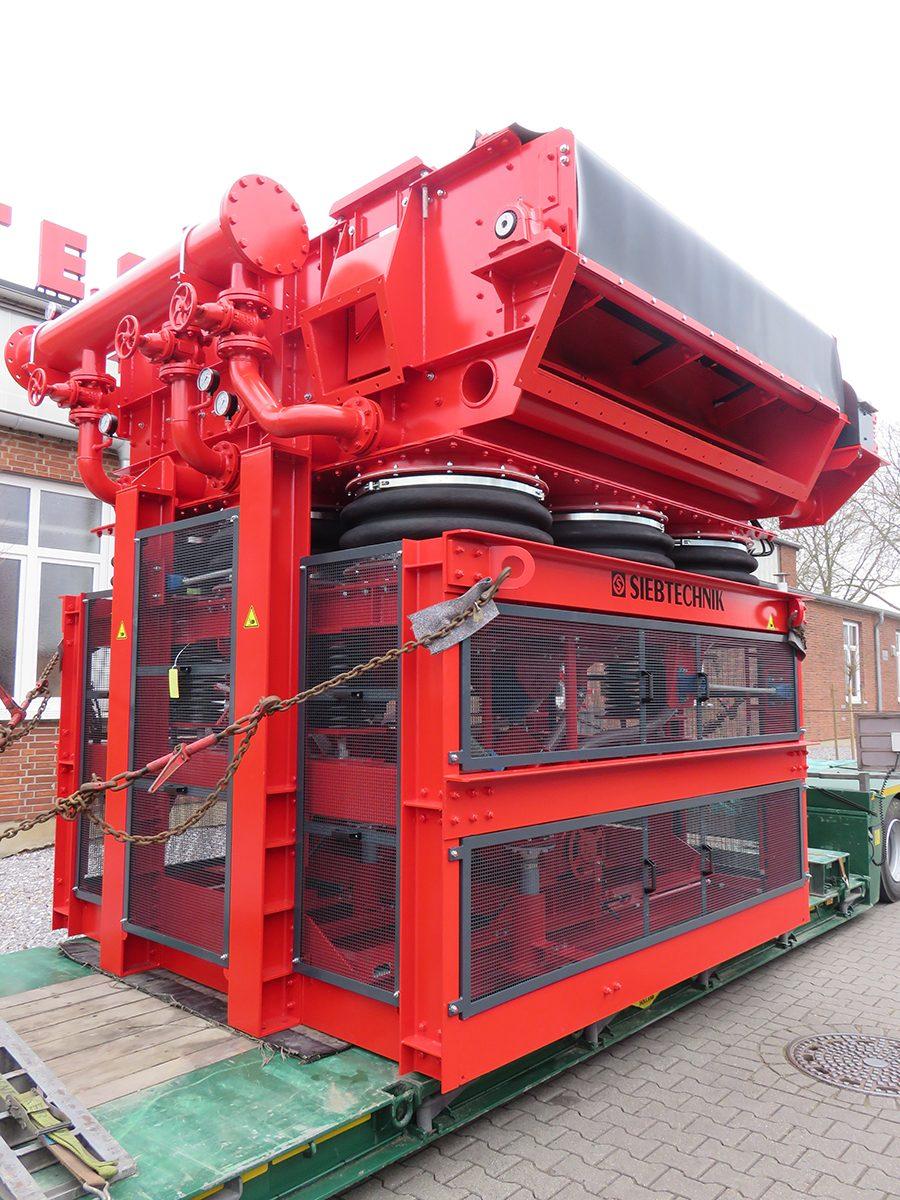 Schwingsetzmaschine SK25-25 Transport