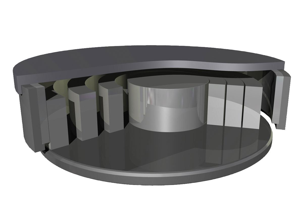 Vibrating disc mill HEM - Grinding bowl opened