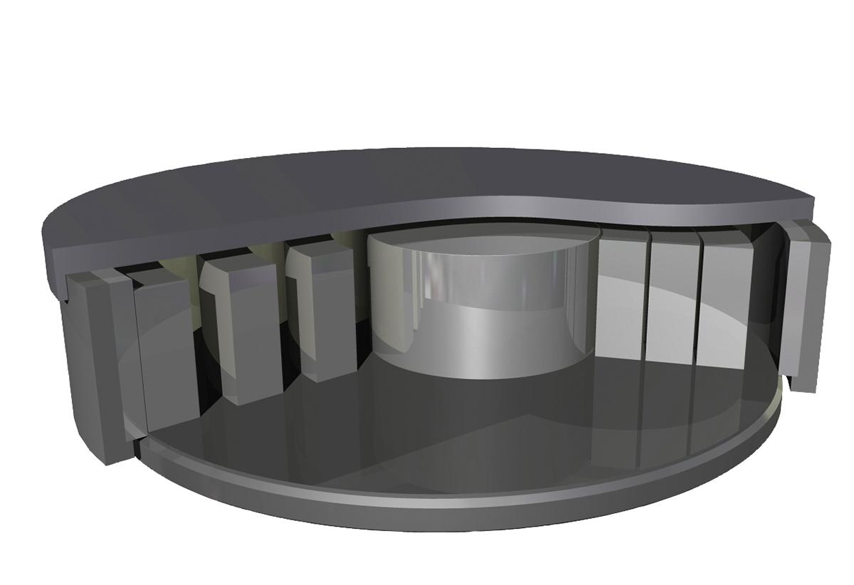 Vibrating disc mill HEM - Grinding bowl closed