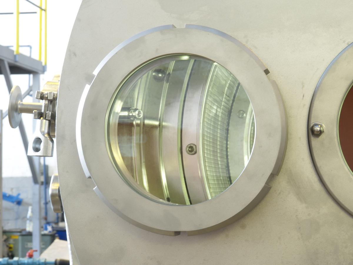 Schubzentrifuge SHS Detailansicht in den Innenraum auf Spaltsiebbelag