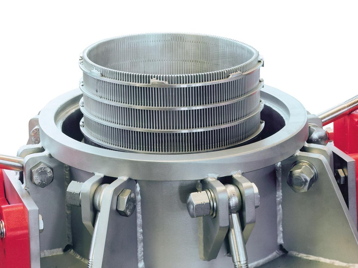 Suspensionskontrollsiebmaschine SKS 202 - Detailansicht SKS 202, Spaltsiebkorb