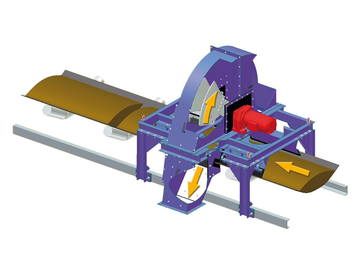 Hammerprobenehmer Funktionsprinzipskizze 3D Schnitt